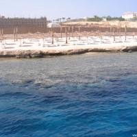 Der Tauchplatz vom Tauchboot aus, Mai 2007