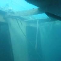 Dank der schlechten Sicht im Hafen sieht alles etwas mystisch aus, September 2002