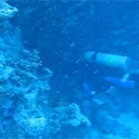 Hinein in die Unterwasserhöhle, Mai 2007