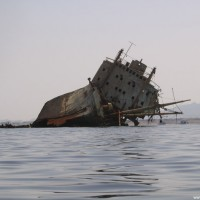 Das Wrack der Loullia, Mai 2007