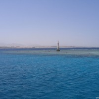 Der Leuchtturm am Südende des Riffs, Mai 2007