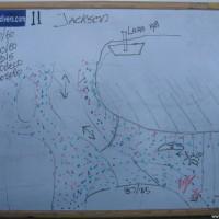 Tauchplatzkarte des Jackson Reefs, Mai 2007