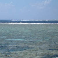 Hinter dem Riff ist das Great Barrier Reef zuende, Oktober 2006