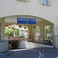 Einfahrt zum Parkhaus Post, Mai 2005