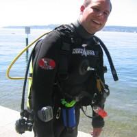 Martin schwitzt in seinem Trocki, Mai 2005