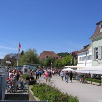 Die Promenade von Überlingen, 3 Gehminuten vom Parkhaus Post, Mai 2005