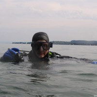 Alex ready for dive, August 2005