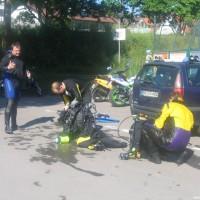 Schön war's - Manne, Holger und Joe beim abrödeln, Mai 2005