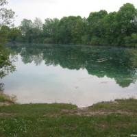 Blick über den Weiher, Mai 2004