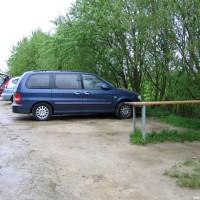 Die Parkmöglichkeiten direkt bei Einstieg 1, Mai 2005