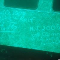 Und hier die Inschrift einen Tag später, Mai 2005