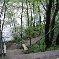 Der Fußweg zu Einstieg 3, Mai 2005