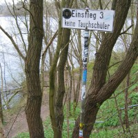 Hinweisschild, April 2006