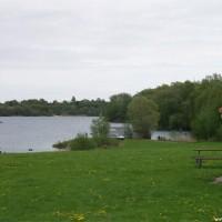 Blick von der Tauchbasis zum See, Mai 2005