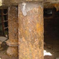 Der Keller der Mühlen-Ruine, August 2002