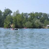 Blick auf den See, Juli 2005