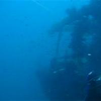 Seitenwand in starker Strömung, August 2006