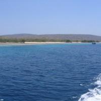 Blick vom Tauchplatz auf die Menjangan Insel, September 2007