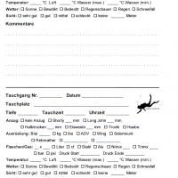 iQ Logbook M / sub-base Logbuch - 2 Tauchgänge pro Seite v2