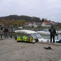 Zurück im Hafen von Unteruhldingen, November 2005